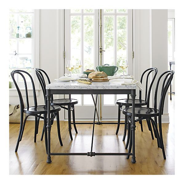 Thonet-style chairs with French Kitchen Table - Crate & Barrel