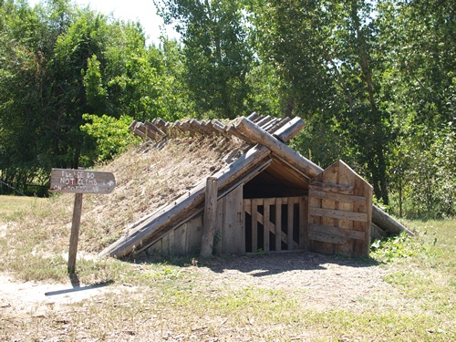 The Four Mile Historic Park in Denver contains a preserved farmstead from 1859 complete with root cellar.