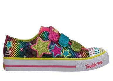 Sketchers twinkle toes a must have for girls!!! My daughters love them.