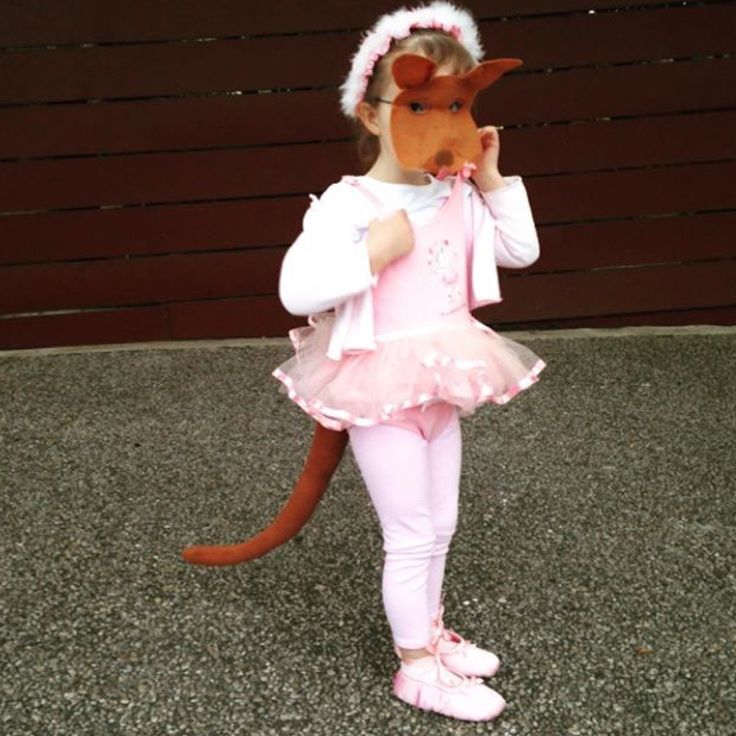 Josephine wants to dance - Australian book week costume - kangaroo costume - Kangaroo tail and mask by Schooza