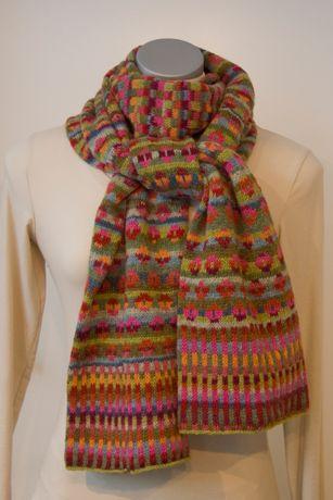 "Winter scarf ""Sey-Fas"" by Mrs Wittendorff Nielsen, Denmark."