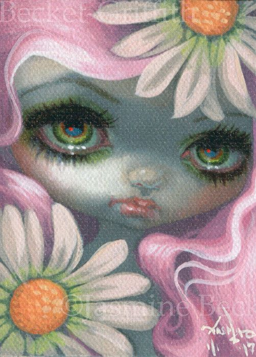"""So, after many """"requests"""" for ACEO cards, I have finally caved in. Each of my ACEO Cards are one-of-a-kind giclee canvas prints from my original paintings. Each one is hand-embellished by me, the artist - with hand painted details, signature, year created, and a numbering system that is """"1/1"""" meaning that just one single card of that image exists in the edition. 
