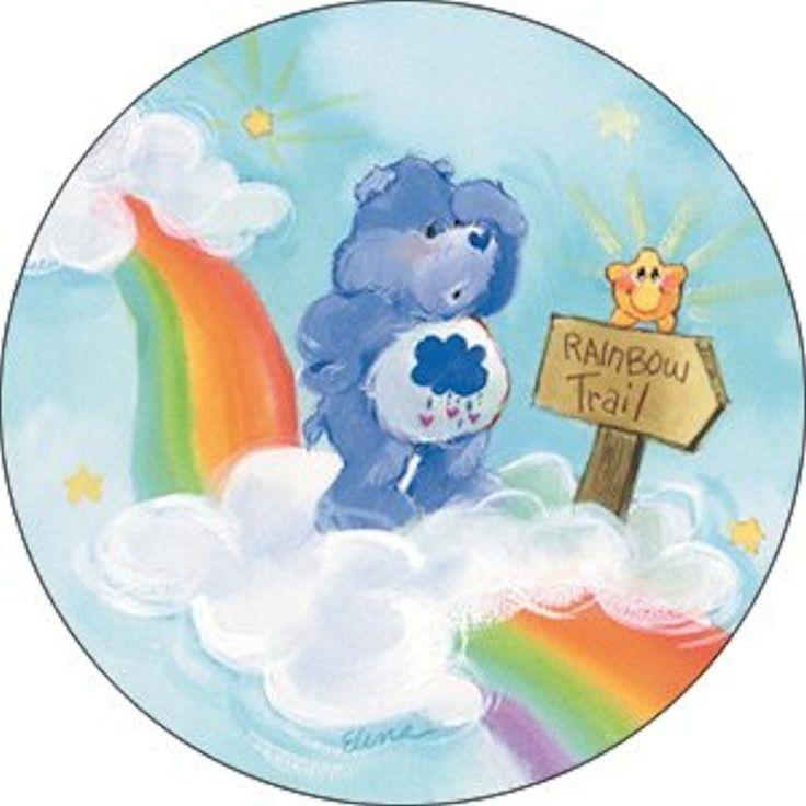 Grumpy Bear Rainbow Trail Button #carebears