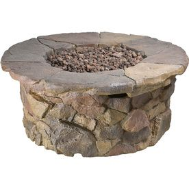 Garden Treasures Tosca W Stone Design Composite Propane Gas Fire Table At  Loweu0027s. Let This Gas Fire Table From The Tosca Collection Heat Up Your  Outdoor ...