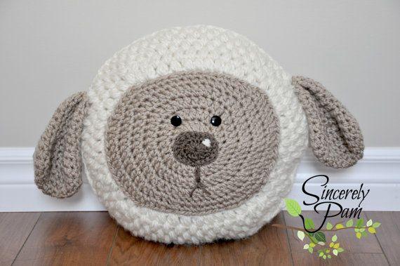 Little Lamb Pillow Crochet Pattern pdf