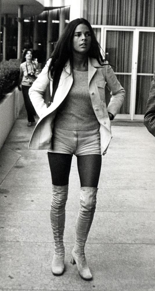 Ali in white go go boots- 1970