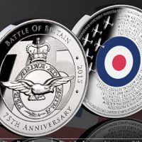 You can get your free 'Battle of Britain 75th Anniversary Commemorative Coin', which proudly shows off the Royal Air Force (RAF) crest as well as Spitfires and Hurricanes.