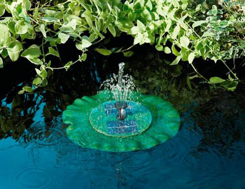 Fuente solar flotante hoja de nenúfar 210L/hora