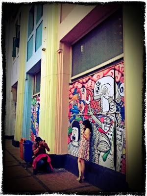 Mural at Braga Bandung - a nice place for photo spot