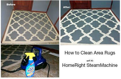 How to Clean an Area Rug With Steam