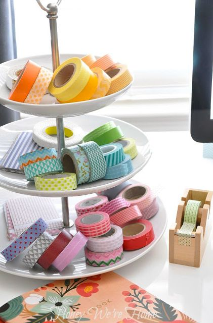 Washi tape organization idea