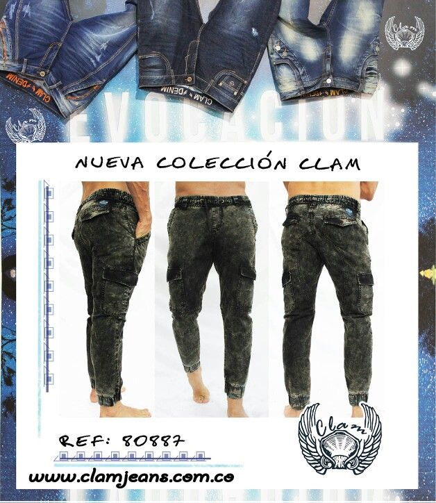 Pantalón de hombre... nueva colección Clam Jeans!