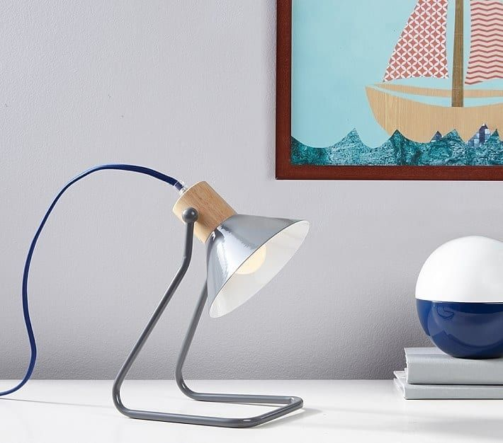 Hot tip: children's stores have excellent lamp selections.Get it at Pottery Barn Kids for $33.99.