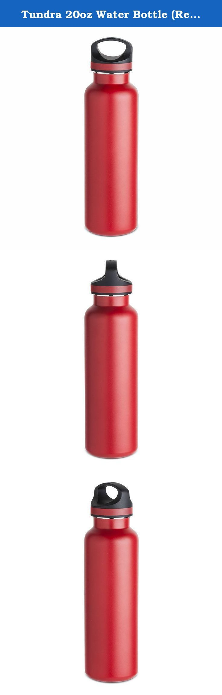 Tundra 20oz Water Bottle (Red) Double Wall, Vacuum Sealed, Copper Lined Stainless Steel Water Bottle. With a narrow mouth and vacuum insulation, the Tundra 20oz Bottle is perfect for keeping your drinks COLD (24 hours) or HOT (12 hours) while you're on the go! The matte powder coat finish gives the Tundra a smooth sleek look. It has a copper lining, double wall made of 18/8 stainless steel, and a proprietary insulated lid. BPA free!.