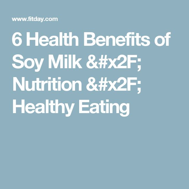 6 Health Benefits of Soy Milk / Nutrition / Healthy Eating