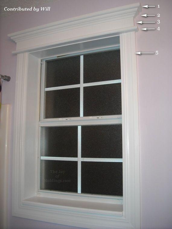 Great site for  DIY trim & molding  Bathroom window for my bath?