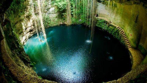 blue cenote, Mexikó