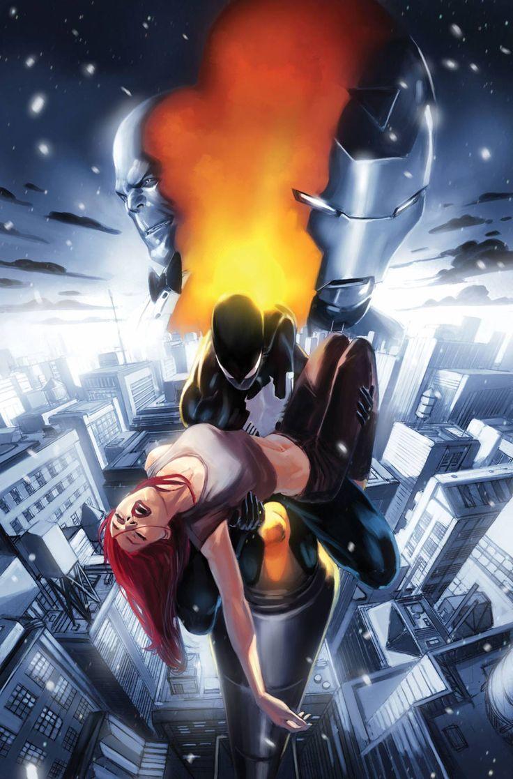 #Black #Suit #Spiderman. (What if: Spider-Man Back In Black Vol.1 #1 Cover) By: Marko Djurdjević. (THE * 5 * STÅR * ÅWARD * OF: * AW YEAH, IT'S MAJOR ÅWESOMENESS!!!™)[THANK Ü 4 PINNING!!!<·><]<©>ÅÅÅ+(OB4E)