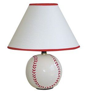 ORE Furniture Ceramic Table Lamp with Baseball Base