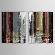 Hand Painted Lukisan Minyak Abstrak dengan Frame ... – USD $ 89.99
