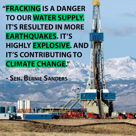 #Vote4Bernie To Ban Fracking. Hillary is Pro-Fracking & along with Dick Cheney she not only sold fracking to America, Cheney got it exempted from the clean water act. This is exactly the reason we need Senator Bernie Sanders in the white house. #BanFrackingNow.