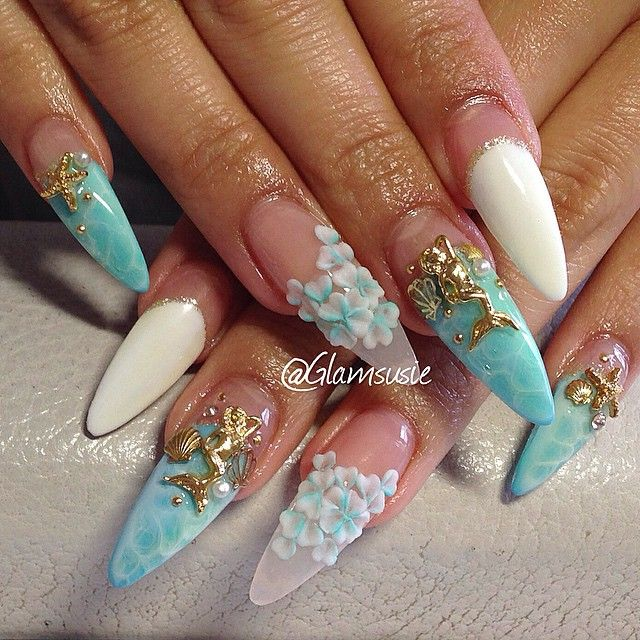Mermaid Nail Art Adorable: 17 Best Images About Mermaid Nails On Pinterest