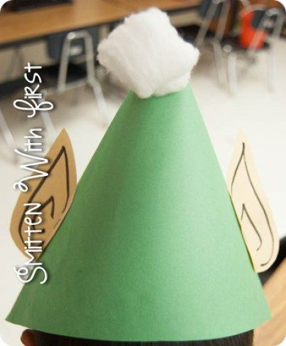 Elf Hat Craft || 15 Fun Elf Crafts for Kids! A wonderful collection of 15 Christmas Elf Crafts for children from 2 to 22!!