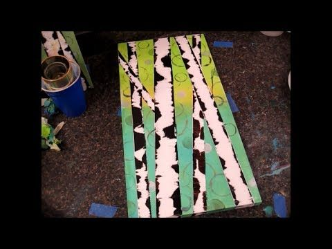 ▶ Easy Birch Tree Painting Tutorial - Free Acrylic Painting Lesson for Beginners and Kids - YouTube
