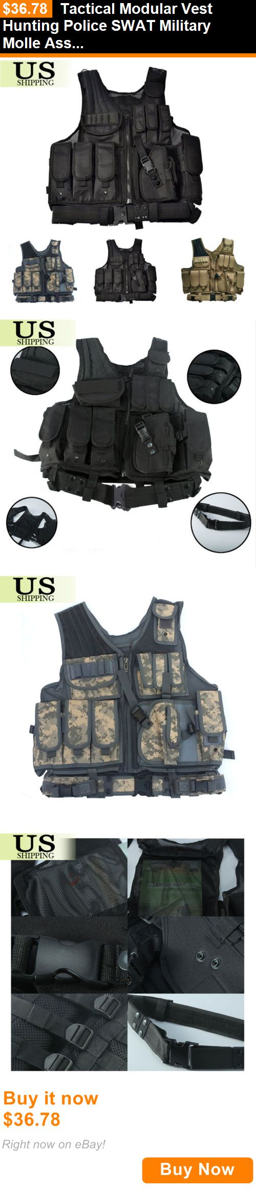 Chest Rigs and Tactical Vests 177891: Tactical Modular Vest Hunting Police Swat Military Molle Assault Belt And Holster BUY IT NOW ONLY: $36.78