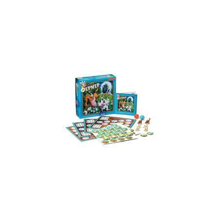 """Bondibon Настольная игра """"Супер Фермер Люкс"""", Bondibon  — 1450 руб.  —  Увлекательная игра """"Супер Фермер Люкс"""" позволит не только весело провести время, но и проверить свои математические навыки. Каждому участнику предстоит заниматься разведением домашних животных, а также охранять ферму от нападения лисы и волка. Эта экономическая игра основана на математических правилах, в которой предстоит делать подсчеты и оценивать риски. Все эти навыки обязательно пригодятся в дальнейшей жизни…"""