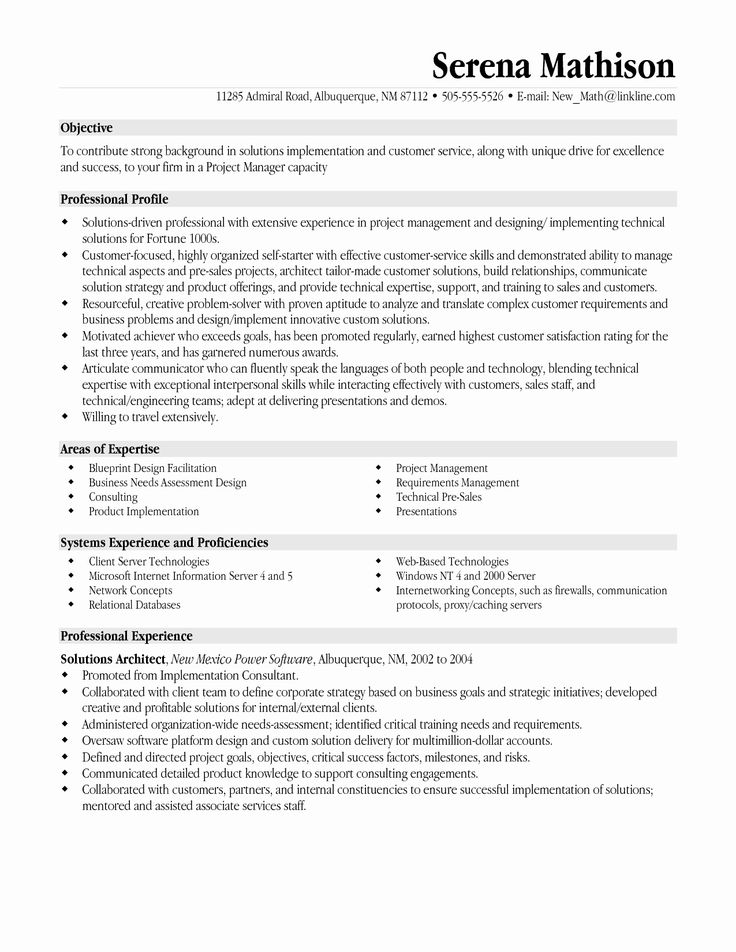 It Project Manager Resume Examples Inspirational Resume