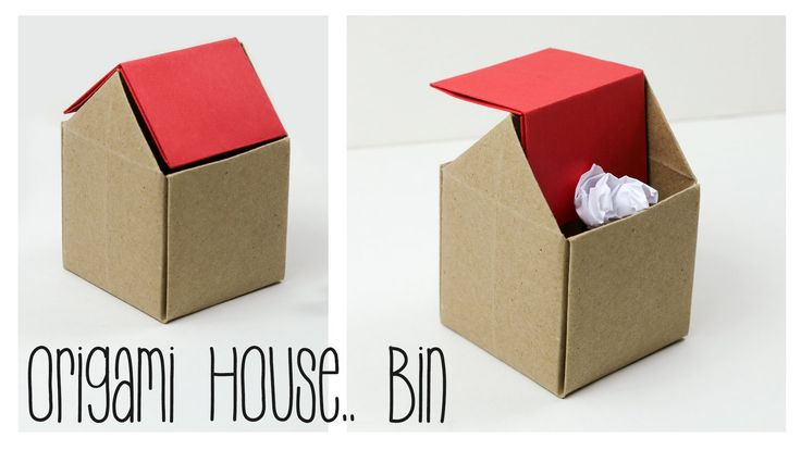Learn how to make a useful origami rubbish bin for your desk! it also looks like an origami house.. ♥ ⬇OPEN ME ⬇ I suddenly wanted to see if it was possible ...