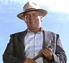 "COOL HAND LUKE ~ the immortal line (drooled by Strother Martin, as a sadistic redneck prison officer), ""What we've got here is failure to communicate..."""