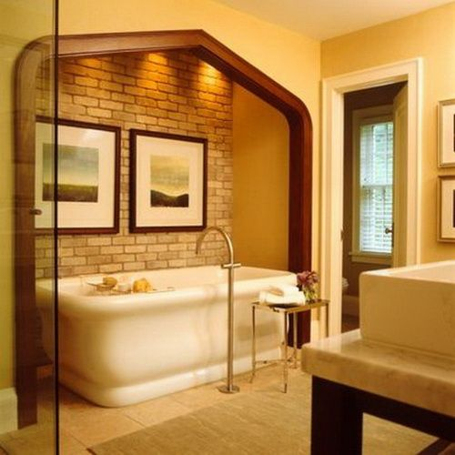 Bathroom Lighting Remodelista: 13 Best Brick Bathroom Images On Pinterest