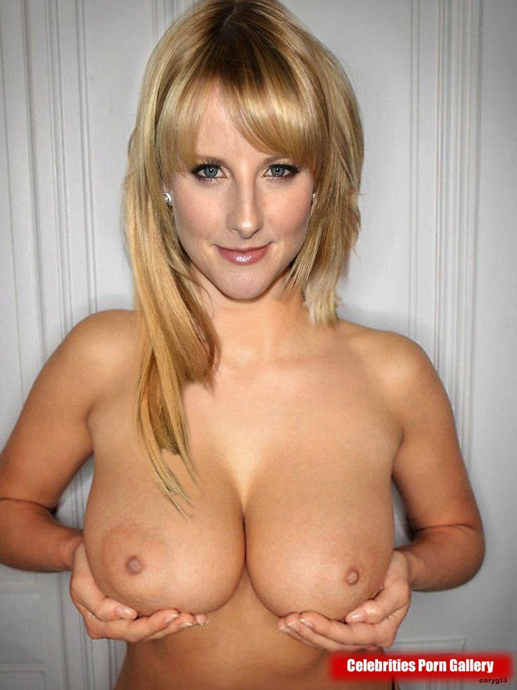 Are not Melissa rauch hands on tits