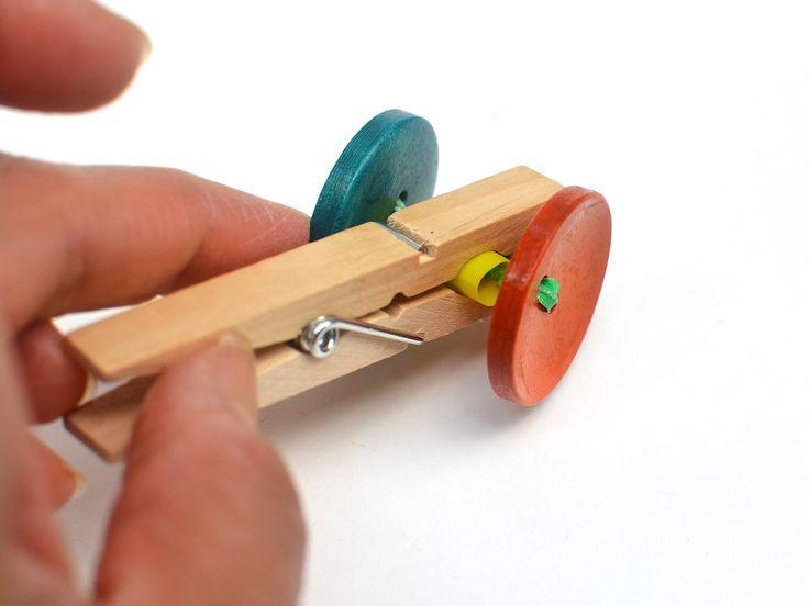 How to make a clothespin car