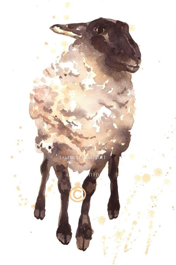 SHEEP Print, Silly Ewe, sheep painting, for the fiber ...