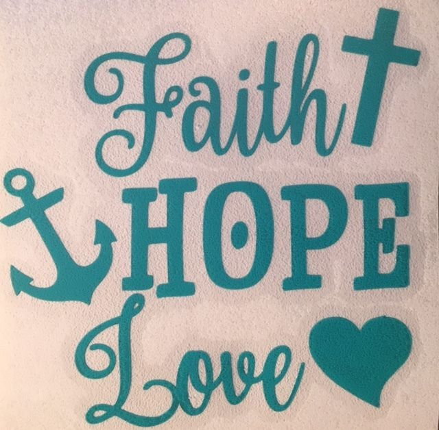 Faith hope love decal for your yeti rambler tumbler sticker laptop cross