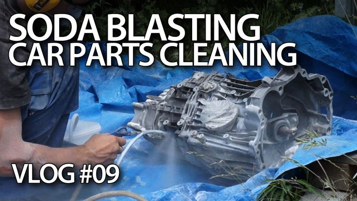 Baking soda blasting car parts #maintenance #tuning #cars