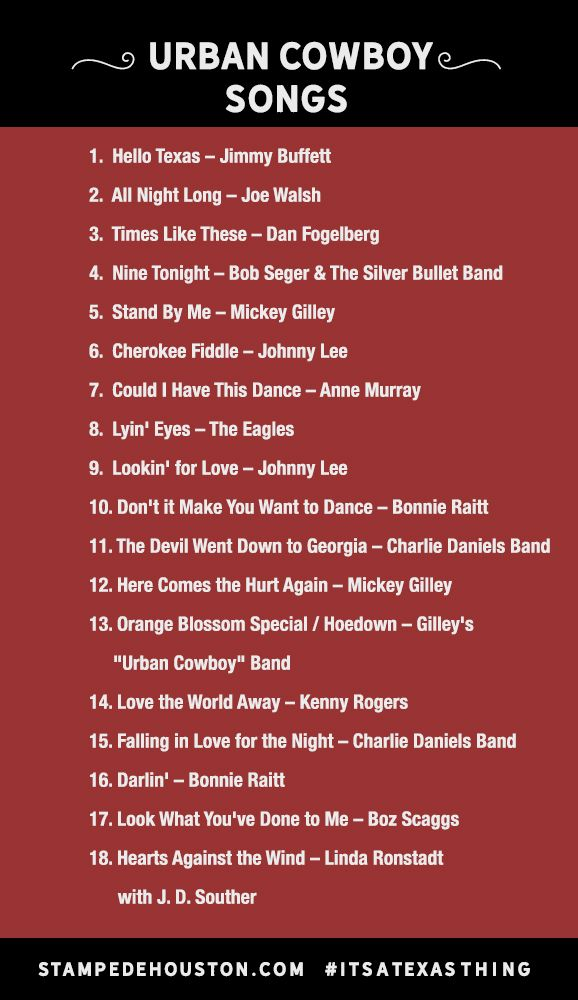 Which Urban Cowboy song is your favorite?