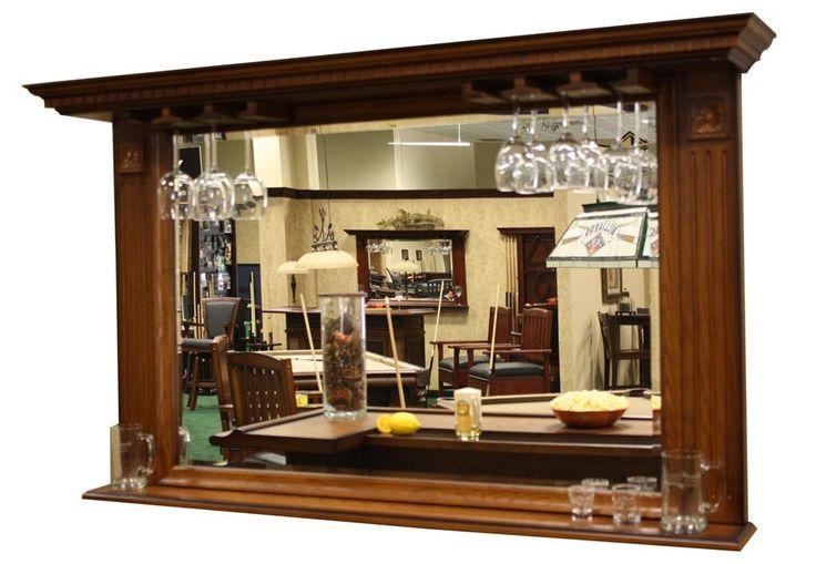 Kokomo Back Bar Mirror W Display Shelf Home Decor