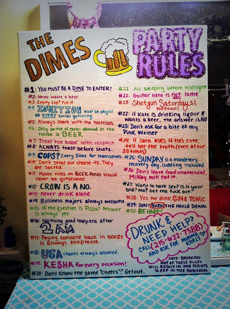 College party rules