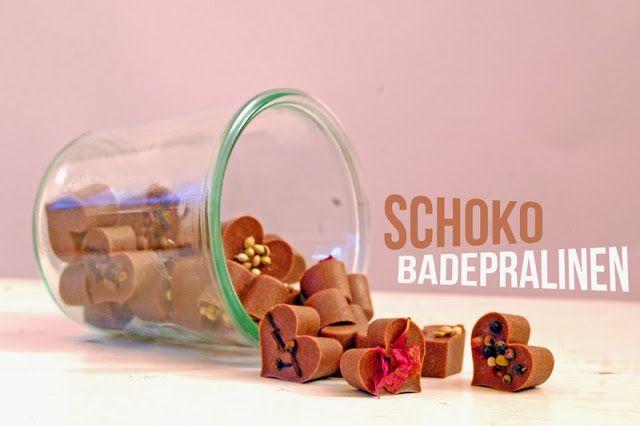 Vegane Schoko-Badepralinen
