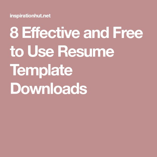 Best 25+ Resume template download ideas on Pinterest Cv template - make a resume for free and download