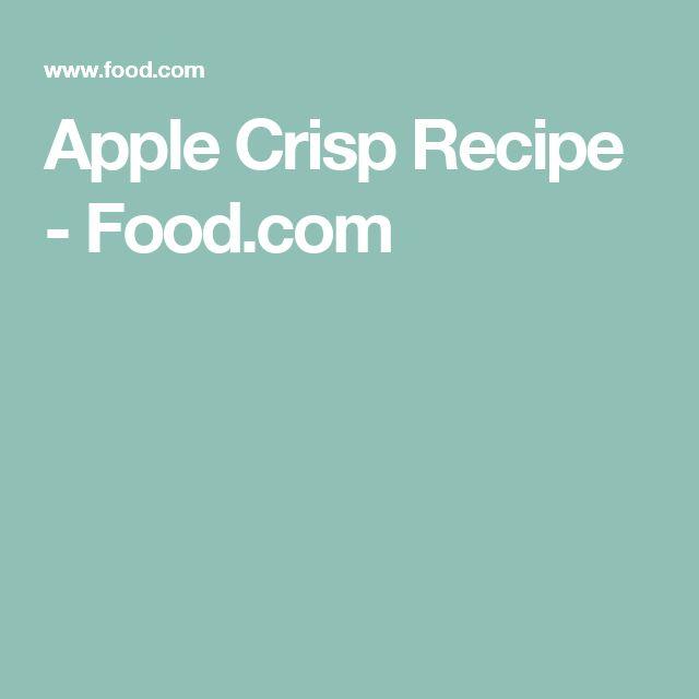Apple Crisp Recipe - Food.com