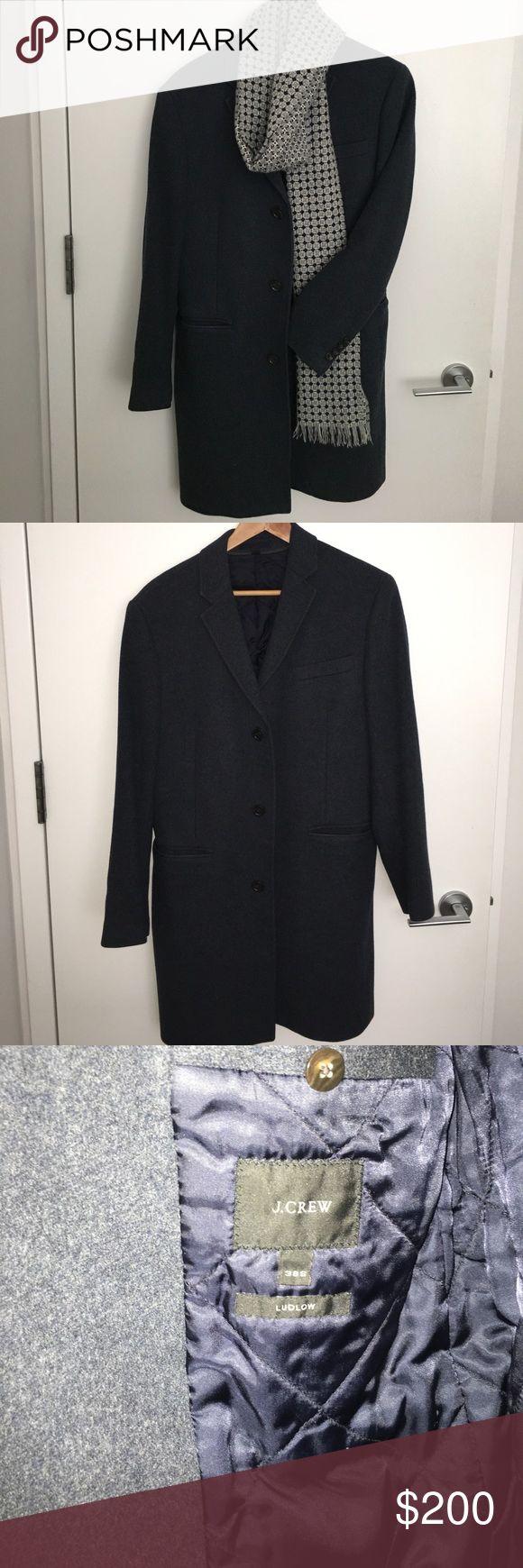 JCrew heather navy blue topcoat JCrew heather navy blue extra slim fit! J. Crew Suits & Blazers Sport Coats & Blazers