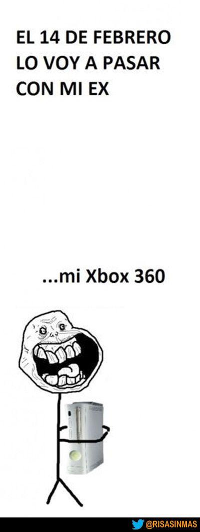 San Valentín con mi XBOX 360.
