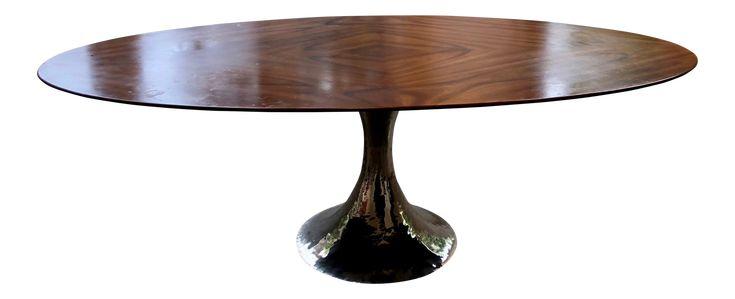 Julian Chichester Dakota Oval Dining Table on Chairish.com