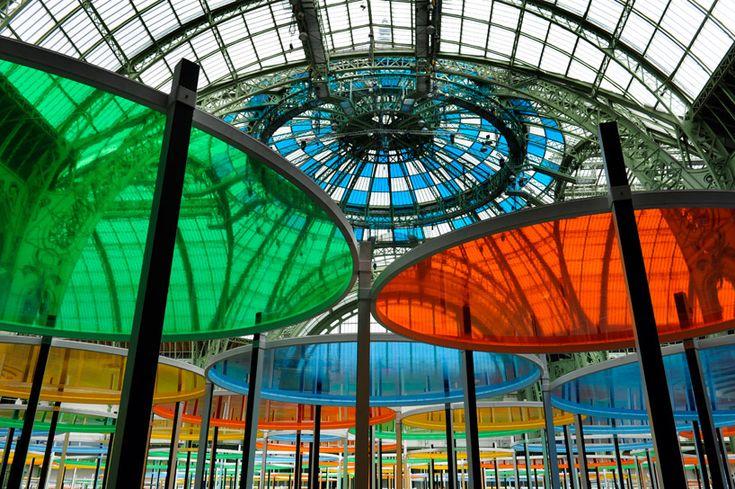 Excentrique(s) by Daniel Buren. Monumenta 2012, Grand Palais, Paris.