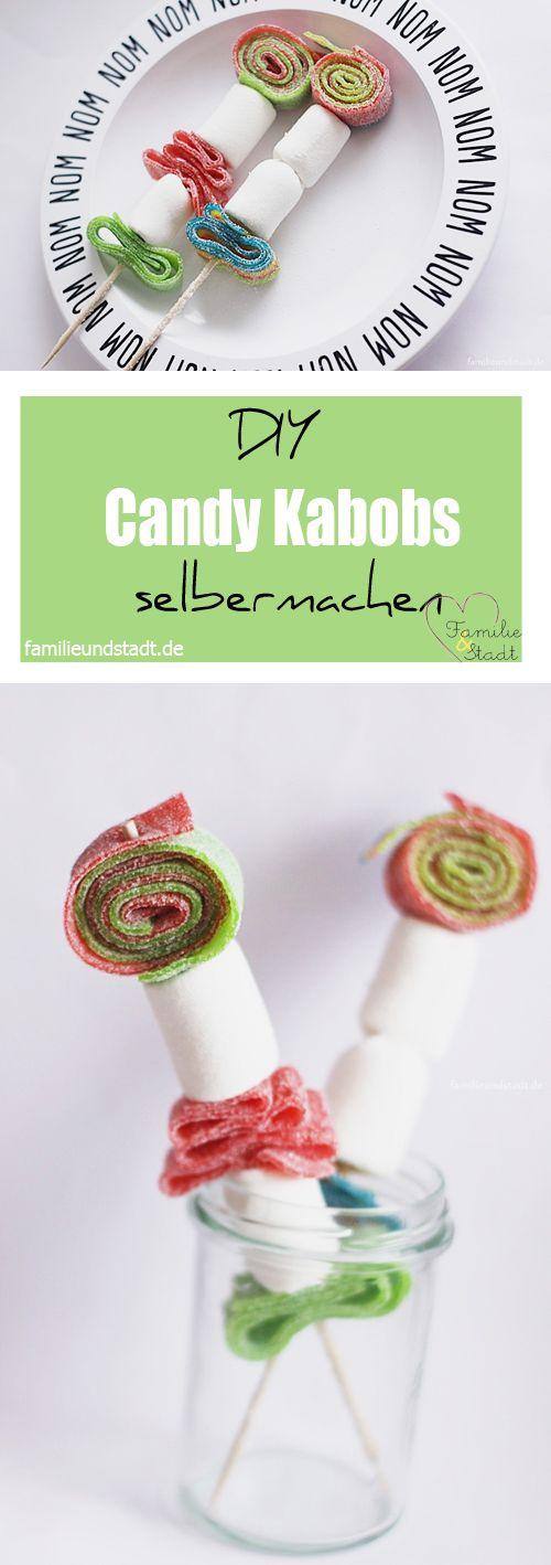 DIY Candy Kabobs selber machen, Rezeptidee Finger Food Kindergeburtstag